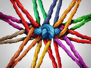 Clinic 77 coloured string knot
